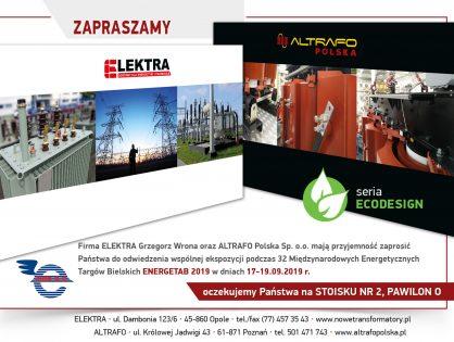 Altrafo Polska na 32. Międzynarodowych Energetycznych Targach Bielskich ENERGETAB 2019!